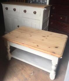 Upcycled solid rustic/Farmhouse sideboard & coffee table