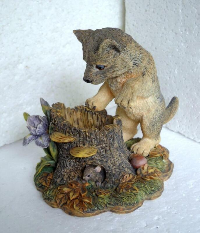 Curious Encounters EARLY DISCOVERIES Wolf Pup Figurine