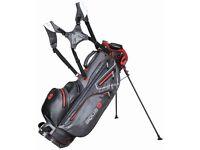 Big Max Golf Aqua 8 Waterproof Stand Bag - Charcoal/Red - New - X-Display - rrp £269