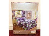 PRISM Floral Reversible Duvet Quilt Cover Set - Double - Purple - New in Packet