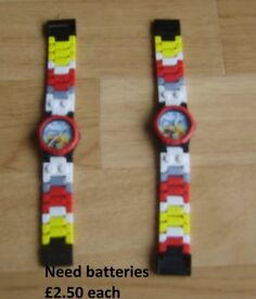 lego city watches need new batteries £2.50 each collection from didcot