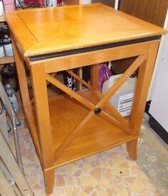 Square Side Table (Medium Coloured Wood)