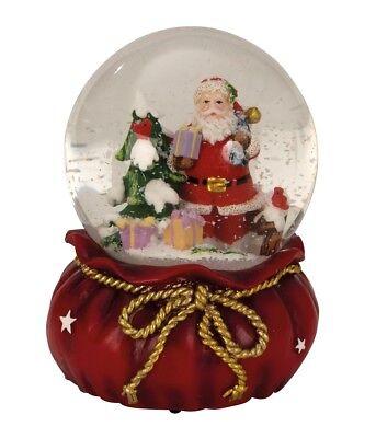 Große Schnee (Große Spieluhr Schneekugel Ø 11 cm Weihnachtsmann Spieldose Weihnachten)