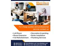 Free Property quotes for Loft room, Painting, Extension, Boiler installation & Plumbing services etc