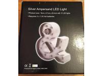 Silver LED Ampersand light