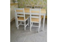 KITCHEN DINING TABLE AND 4 CHAIRS
