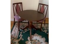 G Plan round table and 4 chairs