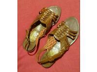 Tan Sandals Size 6