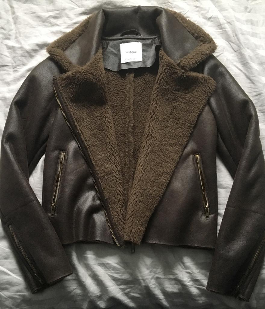 Mango short brown flying jacket