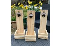 Handmade wooden bottle opener