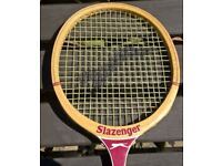 £10 Vintage Slazenger Squash 'The Dart' Racket Original Wooden Frame