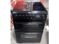 Hotpoint HAE60K 600mm Fan Assisted Electric Double Oven Cooker With Ceramic Hob