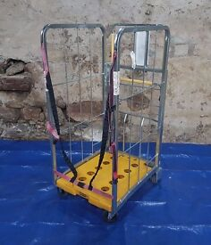 Mail/General Purpose Warehouse Workshop Trolley Cage Cart Wheeled