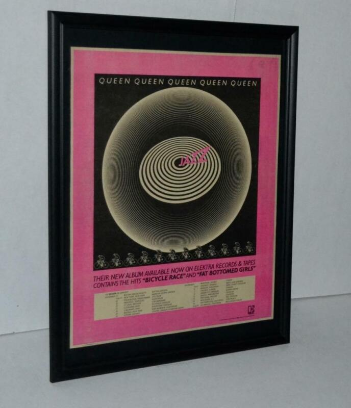 QUEEN 1978 JAZZ LP AND TOUR DATES CONCERT FRAMED POSTER / AD FREDDIE MERCURY