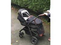Silver Cross special edition Henley pioneer travel system pram pushchair car seat & isofix