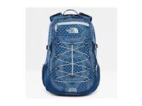 North Face Borealis Classic Unisex Rucksack Hiking, School, College etc.. - Shady Blue Bandana Print