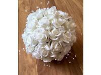 Stunning Wedding Bouquets Flowers Foam Roses Bride/Bridesmaid