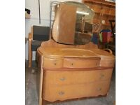 Birds eye Maple Dressing Table and 2 Wardrobes set