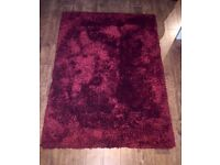 Red rug for sale. Good condition