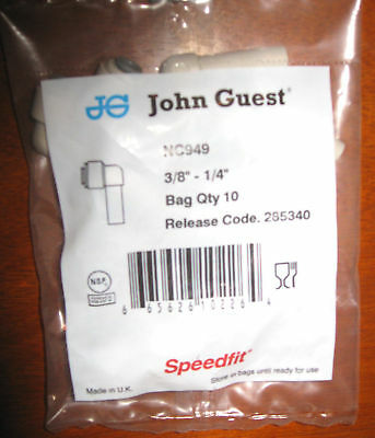 10 Pck John Guest Plug In Elbow 38 To 14 Quick Conn