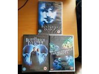 THE BUTTERFLY EFFECT 1-3 DVD'S - NEW - SEALED