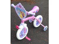 Girls Disney Princess bike with Stabilisers