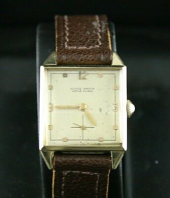 VINTAGE!  Ulysse Nardin Mens 14k Gold Mechanical Wristwatch NICE!