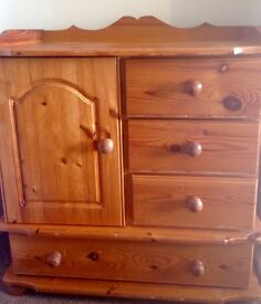 Beautiful solid pine baby changing unit