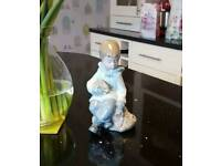 Nao/Lladro Boy with Rabbit figurine