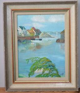 VINTAGE OIL PAINTING BY O.MARTIN 1974
