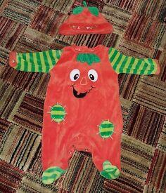 Newborn Baby Pumpkin Halloween Costume (Height 50 -56 cm)
