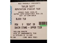 2 Taylor swift tickets for croke park Dublin 16th June
