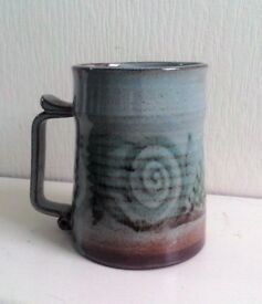 Studio Pottery Mug or Tankard Named Mint