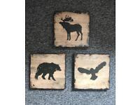 Woodland creatures wall art