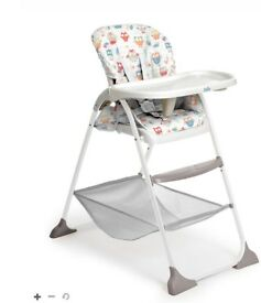 Joie Mimzy Snacker Highchair with Owl pattern