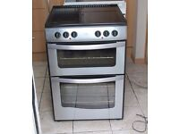 STAINLESS STEEL New World 60cm, double oven electric cooker FREE DELIVERY, WARRANTY