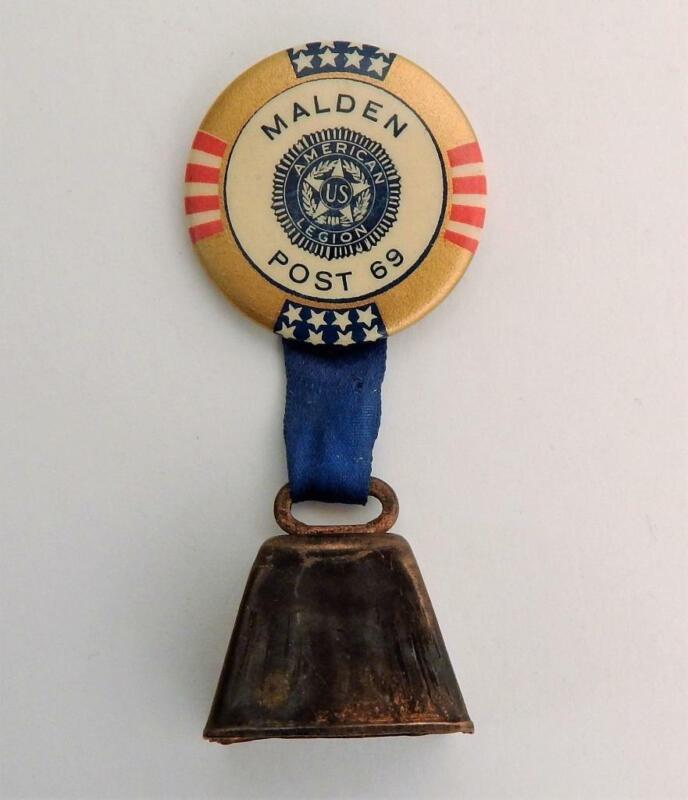 Vtg American Legion Pinback Bell Medal Post 69 Malden Mass. Pilgrim Specialty Co