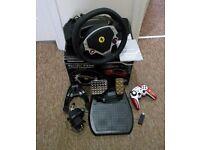 Thrustmaster FERRARI F430 Force Feedback Racing Wheel(PC) + Thrustmaster Wireless F1 gamepad(PC,PS3)