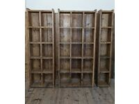3x HOME OFFICE pigeon holes bookcases big books folders reclaimed 1+2+3 cols gplanera