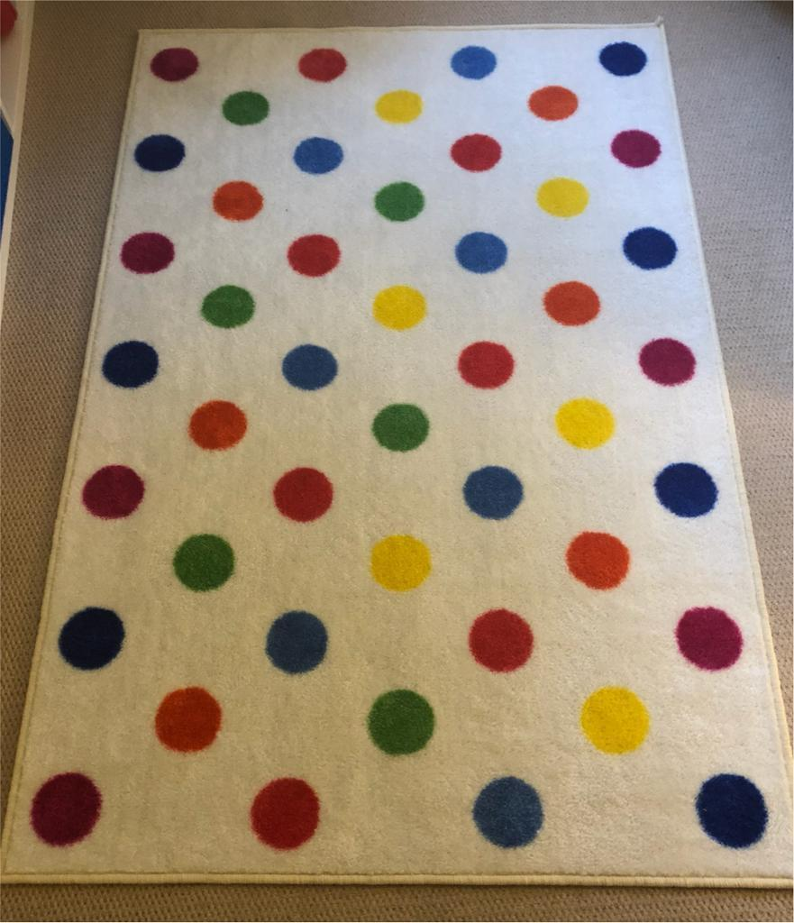 Kids Bright Colourful Spotty Rug Carpet 1 5 X 0m