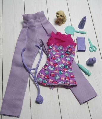 BARBIE doll PET VET Dr Doctor Nurse Clothes-CAREER OUTFIT/scissors LOT-puppy dog](Dog Nurse Outfit)