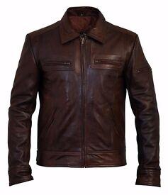 Men's Lynch Vintage Brown Designer Leather Jacket