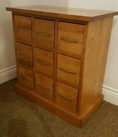 Solid wood CD/DVD storage cabinet