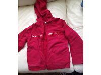 Next girls red hoody aged six