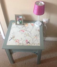 Small hand painted table