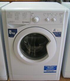 Indesit Large Load 8kg Washing Machine, 1400 Spin, VGC, inc 6 month cover