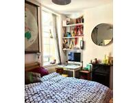 Large double bedroom to rent. Short term let. Haggerston, east london. No deposit. All bills inc
