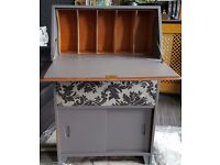 VINTAGE UPCYCLED SHABBY CHIC BUREAU WRITING DESK