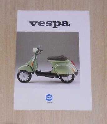 VESPA 50 Scooter Sales Specification Sheet UK Market 1980s/90s