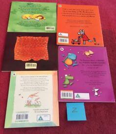 Set of 5 Children's Story Books, DVD & CD Set Z
